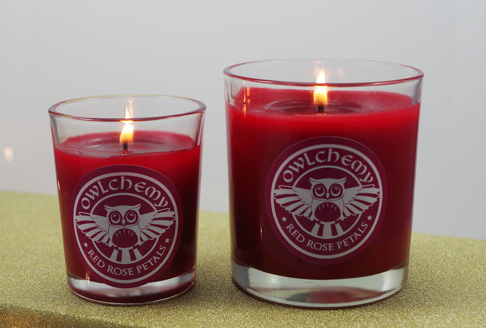 Red Rose Petal Candles and Wax Melts